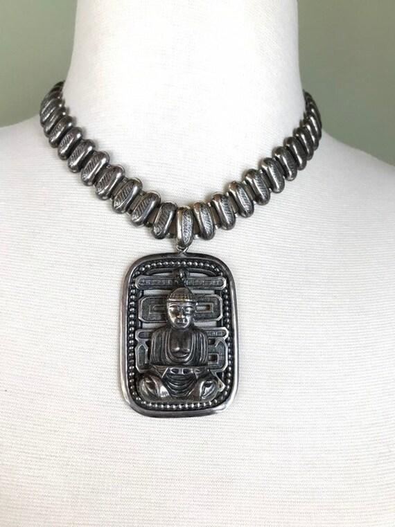 Signed Joseff of Hollywood Buddha Necklace - 03/19