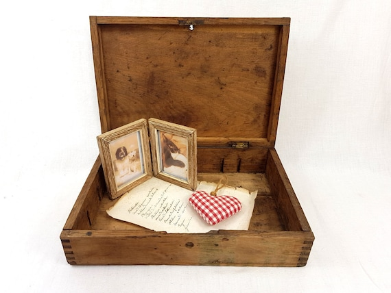 Antike Holzkiste Aufbewahrungsbox Papier Buro Aufbewahrung Etsy