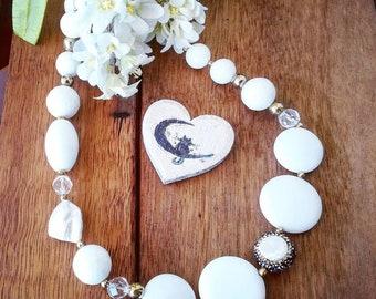 Pure white Necklace