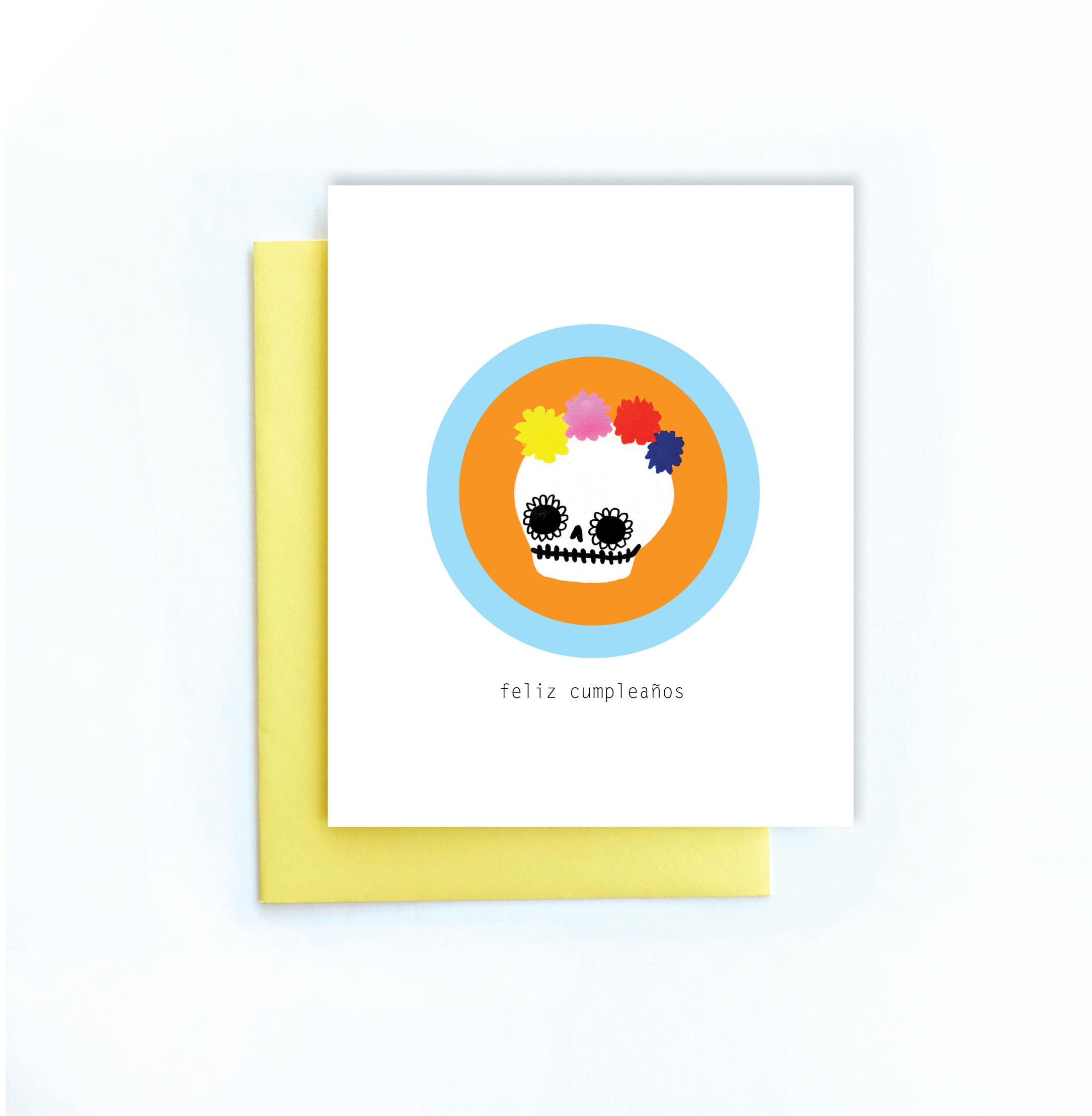 Feliz Cumpleaos Greeting Card Calavera Happy Birthday Etsy
