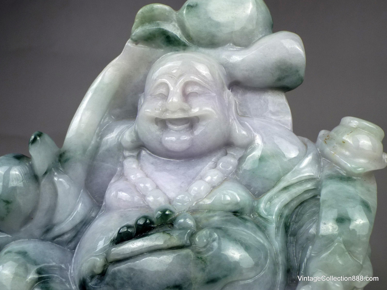 small white jade Buddha pendant Chinese natural jade manual sculpture