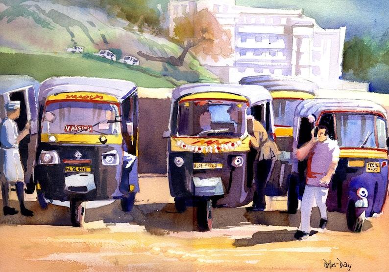 Tuk-Tuk's Munnar Kerala India. image 0