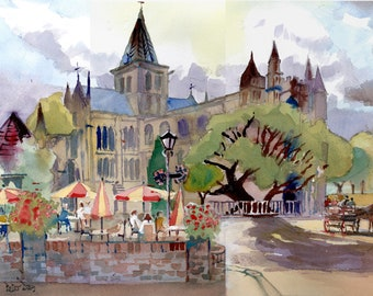 Rochester Abbey, Cathedral, Kent. Cafe and restaurant