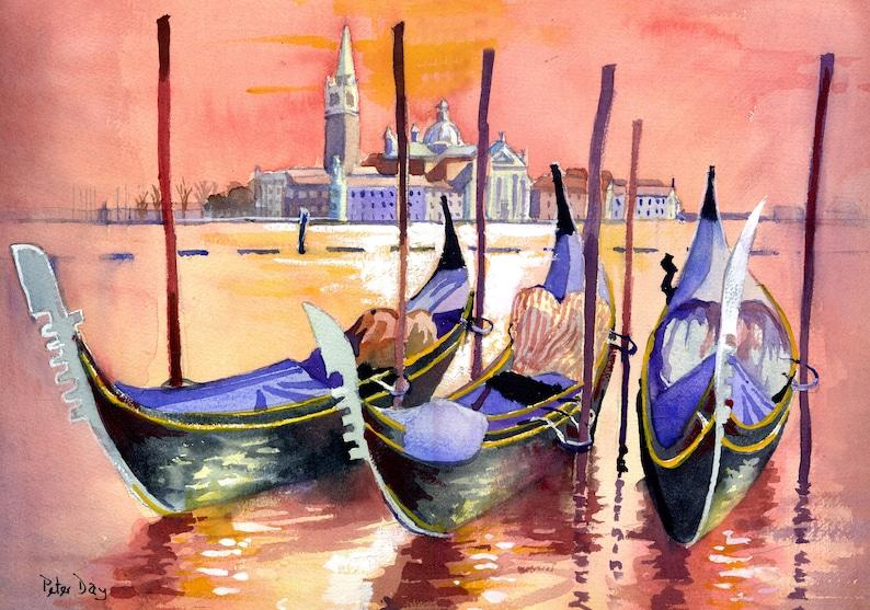 Venice Gondolas and San Giorgio Maggiore. Italy image 0