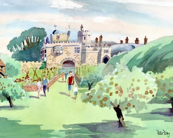 Walmer Castle from the Apple Orchard.