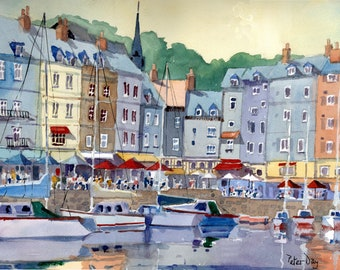 Harbour, Honfleur, Normandy, France