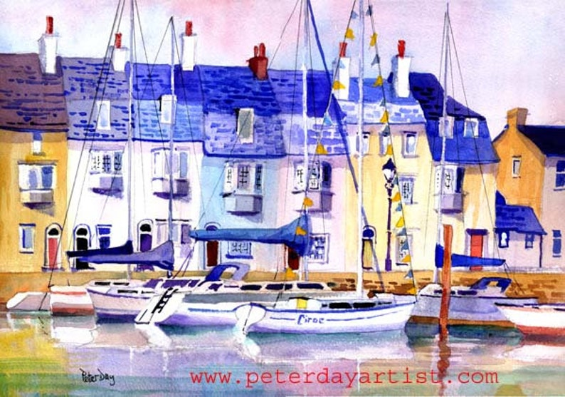 Weymouth. Fishermen's Cottages Old Harbour. BoatsYachts image 0