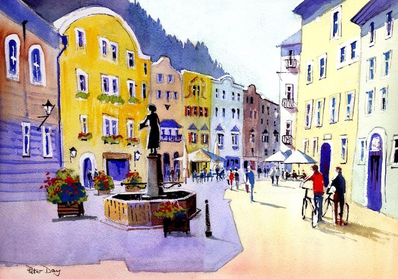 Austria Bright Morning Rattenberg. Sudtirolestrasse. image 0