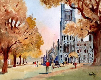 Ely Cathedral, Autumn.