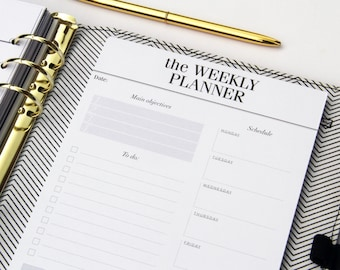 Weekly Planner Notepad / Desk Pad Planner  / To Do List Notepad / A5 Desk Planner, Weekly Agenda & Organizer / Productivity Planner