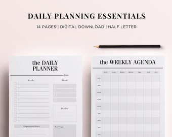 personal size printable planner pages 14 organizer pages etsy