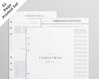 PRINTED A5 Christmas Planner 2021 Inserts for Filofax, LV GM Agenda and Kikki K Large | Holiday Planner Pages Kit, Budget, Gift List & More