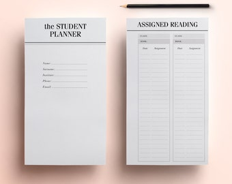 student planner a4 a5 college planner printable student etsy