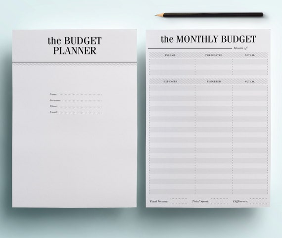 a5 financial planner printable finance organizer set 7 etsy