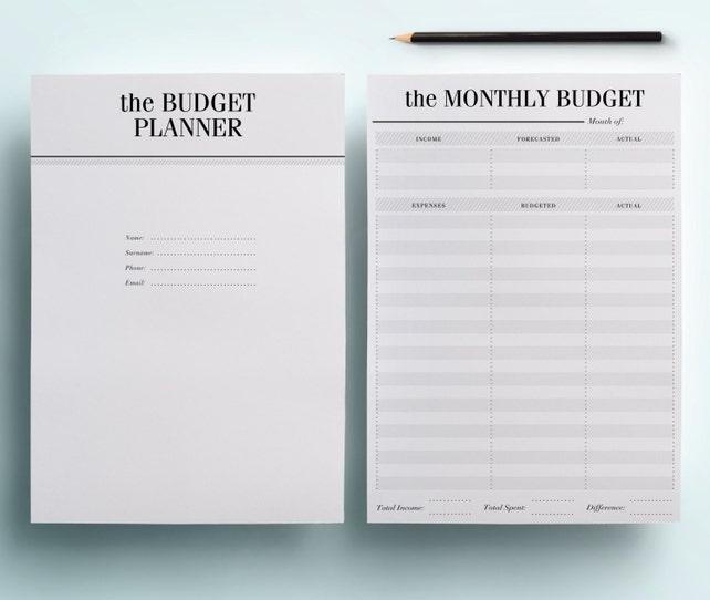 A5 Financial Planner Printable Finance Organizer Set 7
