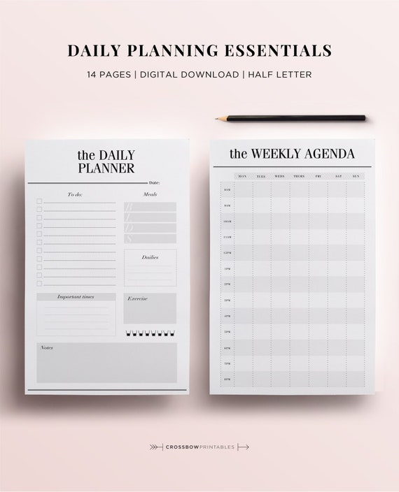 half size planner pages half letter organizer inserts 5 5 x etsy