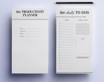 Personal Planner Inserts: Ultimate Productivity Printable To Do Lists, Filofax Personal Pages - Day Planner, Project Planner, Work Organizer