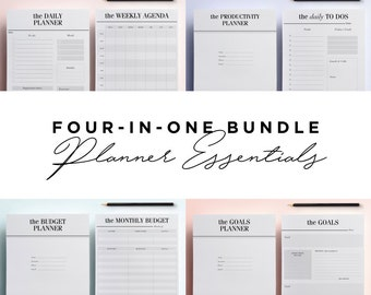 ULTIMATE Planner Inserts Bundle: Planner Essentials Kit, To Do List, 52 Printable Planner Pages | Kikki K, Filofax, LV Agenda, Daily Planner