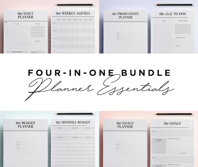 photo about Printable Planner Inserts identified as Supreme Planner Inserts Package deal: Planner Basics Package, Towards Do Listing, 52 Printable Planner Internet pages Kikki K, Filofax, LV Routine, Every day Planner