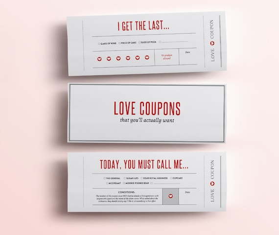 Create fun & romantic love coupons. Personalize each page with ease.