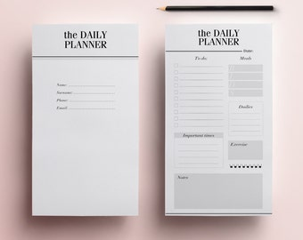 PERSONAL SIZE Printable Planner Pages, 14 Organizer Pages including Daily Planner, Meal Planner, Weekly Agenda, To Do List, Instant Download