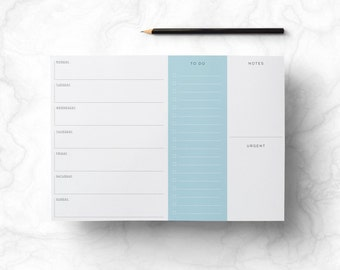 Weekly Planner - Retro Printable Planner with To Do List, Desk Pad, Minimalist Day Planner, Digital File, DIY Downloadable, INSTANT DOWNLOAD
