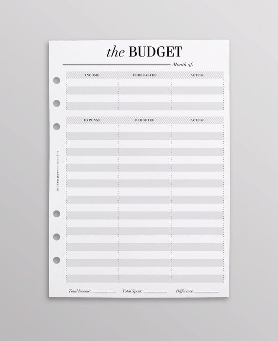 printed a5 budget planner inserts uk monthly budget finance etsy