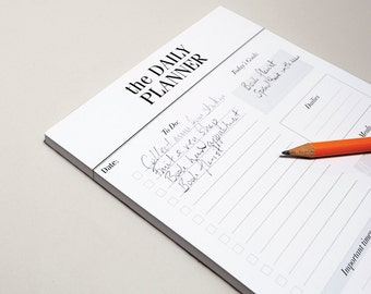Daily Planner Notepad / Desk Pad Day Planner  / To Do List Notepad / A5 Desk Planner, Agenda & Organizer / Productivity Planner