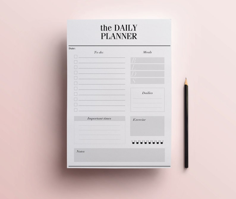 photo regarding Day Organizer known as Day-to-day Planner Printable - Sophisticated In the direction of Do Record, Working day Organizer, A4/A5 Table Planner, Reduced Planner, Black and White Planner, Quick Obtain