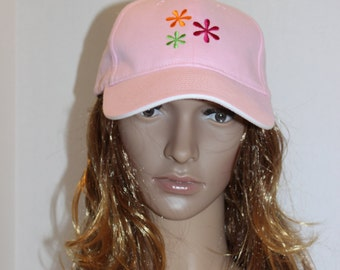 Flowers Personalized Custom Embroidered Cap