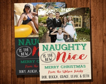 Naughty is the New Nice Printable Christmas Card (Available in Black or Cream!)