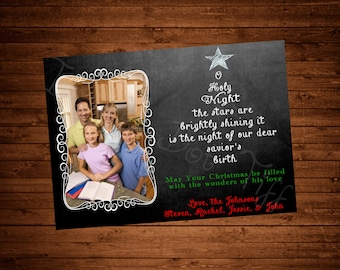 O Holy Night Printable Christmas Card