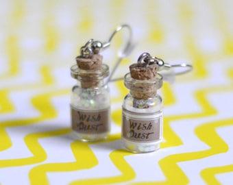 Glitter Wish Dust Bottle Earrings