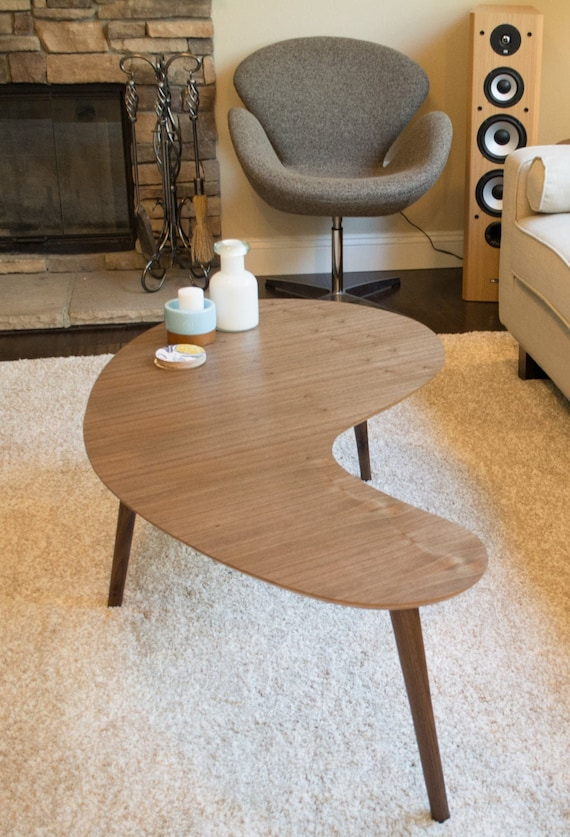 Pleasing Mid Century Modern Coffee Table Kidney Bean Walnut Large Kidney Bean Coffee Table Boomerang Coffee Table Mid Century Modern Gmtry Best Dining Table And Chair Ideas Images Gmtryco