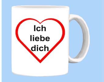 German I love you mug