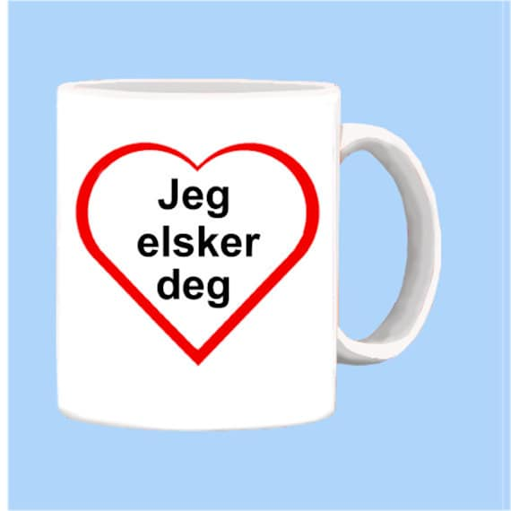 Norwegian I Love You In The Language Of Norway Etsy