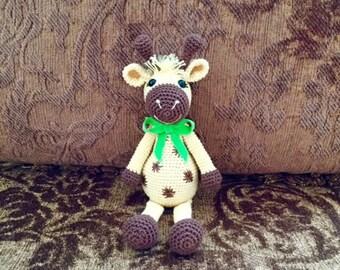 Crochet Miniature Giraffe Play Toy