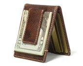 IVAR Bifold Front Pocket Wallet Magnetic Money Clip Wallet PERSONALIZED Mens Wallet Bifold Wallet With Money Clip Men 39 s Gift