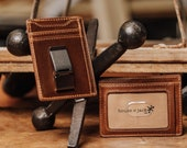 FLYNN Front Pocket Wallet Money Clip Wallet Men 39 s Leather Wallet Slim Card Wallet Men 39 s Gifts