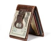 BOTTLE OPENER Bifold Front Pocket Wallet PERSONALIZED Wallet Mens Leather Wallet Money Clip Wallet Mens Gifts Groomsmen Gift