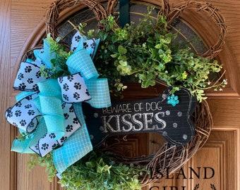 Call it Puppy Love Crochet Wreath Ready to Ship