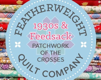 1930's & Feedsack Patchwork of the Crosses Grab Bag #01!