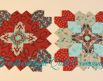 Lucy Boston - Patchwork of the Crosses - Traditional #16 - Two Block kit