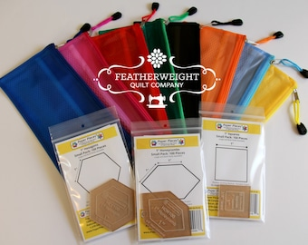 English Paper Piecing kit with FREE project pouch!!!