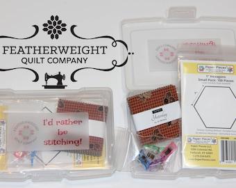 "English Paper Piecing kit - ""Yesterday"" Jo Morton Hexagon or Honeycomb"