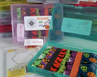 Halloween English Paper Piecing kit with free sewing clips