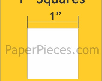 """150 pcs. - 1"""" Squares paper templates for Lucy Boston Patchwork of the Crosses - English Paper Piecing"""