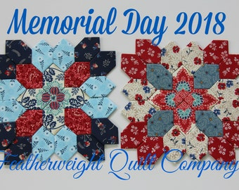 Patchwork of the Crosses - Memorial Day 2018 TWO block kit