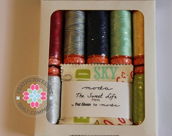 The Sweet Life curated by Pat Sloan - Aurifil 50 wt thread with mini Charm and Free Pattern!! Sale Price!!
