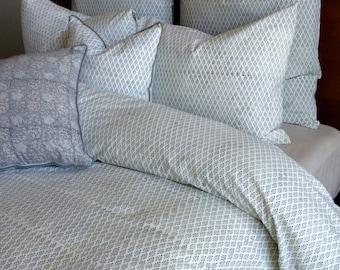 Queen duvet set/ Queen cover/ Duvet Queen / Doona covers/ Comforter cover queen/ Hand block printed/gray bed cover/queen bedding/duvet cover